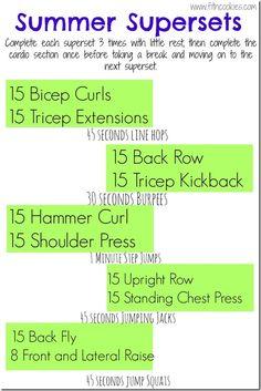 Top 5 exercises I like + Summer Superset Workout