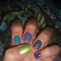 green blue ombre