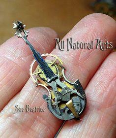 Recyclage de vieilles montres en sculptures steampunk par Susan Beatrice  2Tout2Rien