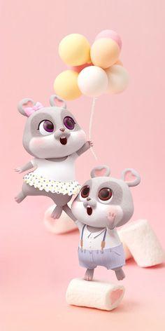 Cartoon Rat, Cute Bunny Cartoon, Cute Cartoon Images, Cute Love Cartoons, Cute Black Wallpaper, Cute Panda Wallpaper, Cute Disney Wallpaper, Cute Rabbit Images, Cute Love Images
