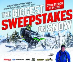 The biggest Snow Sweepstake is now On! Submit your information for a Chance to Win 2 Timbersled ST 120 RAW Kits and a ride with Chris Burandt worth $17,756.00!