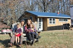 Wonder what living in a tiny house with kids is really like? We live in a 350 square foot home with two children - here's how we make tiny house life work. Building A Tiny House, Tiny House Cabin, Tiny House Plans, House 2, Small House Living, Off Grid House, New Farm, Into The West, Little Houses
