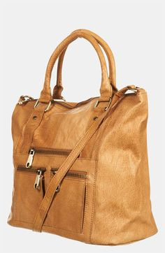 Topshop Washed Leather Satchel available at #Nordstrom