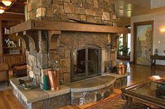 Beautiful double sided fireplace. Edwards Smith Grand Fireplace.