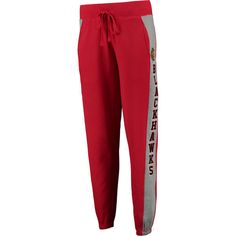 Women's Concepts Sport Red/Gray Chicago Blackhawks Forefront Lounge... ($45) ❤ liked on Polyvore featuring pants, red, red pants, gray trousers, red trousers, gray pants and grey trousers