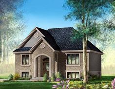 House Plan 49559 | European Plan with 921 Sq. Ft., 2 Bedrooms, 1 Bathrooms