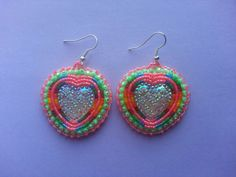 Native american beaded earring made by kimberley McKay