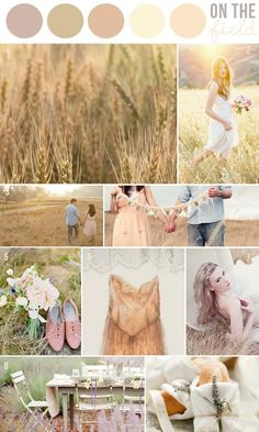 Love how WARM this palette is. Even in the autumn, it would feel like summer. Hey Look: INSPIRATION: ON THE FIELD