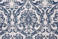 Damask Prints :: Premier Prints Abigail - Drew Drapery Fabric in Navy $9.98 per yard - Fabric Guru.com: Fabric, Discount Fabric, Upholstery ...