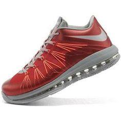 http://www.asneakers4u.com/ Nike Lebron X Low Shoes Red/Grey/Orange
