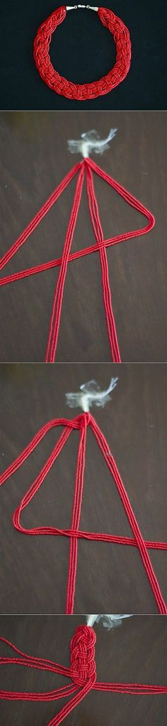 (+1) тема - Эффектное и простое в работе ожерелье из бисера | СВОИМИ РУКА� | Своими руками | Постила