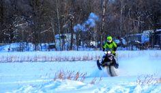 Ski-Doo Wheelie along the Dawson Trail in Manitoba