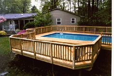 Deck Plans For Above Ground Pools Proper Placing