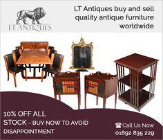 LT Antiques acquaints you with the most sophisticated range of antique furniture to choose from. We have been supplying antique furniture in London and its suburbs, for years. You are sure to fall in love with the offered antique desk antique bookcase, dining table & chairs and more.  Address: The old tidemill school Frankham street, Deptford, London, SE84RN, United Kingdom Phone No: 07799880163