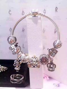50% OFF!!! $239 Pandora Charm Bracelet Pink. Hot Sale!!! SKU: CB01693 - PANDORA Bracelet Ideas