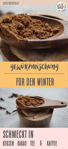 Bio-Gewürze für Herbst und Winter! Ingwer & Co passen perfekt in die kalte, feuchte Jahreszeit und machen Feuer. Die Mischung passt in Keksen, Kuchen, Kaffee, Tee & Kakao und bringt wärmenden Geschmack in die Tasse und auf den Teller. Organic-Spice. #bio #gewürze #rezept #kaffee #winter