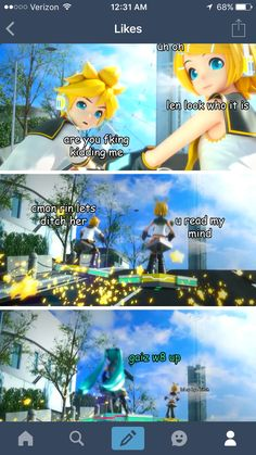 Come on, why would you guys want to run away from Miku xD Hatsune Miku, Kaito, Vocaloid Funny, Kaai Yuki, Vocaloid Characters, Mikuo, Memes, Cosplay Tutorial, Otaku