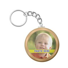 Personalized Photo Key Chain with INSTRUCTIONS.  Upload your favorite Picture. Detailed Printing and a soft golden frame sets your image off. Personalized Gifts CLICK HERE: http://www.zazzle.com/littlelindapinda/gifts?cg=196011228045420884&rf=238147997806552929  Little Linda Pinda Designs ALL GIFTS CLICK HERE: http://www.Zazzle.com/LittleLindaPinda*