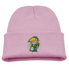 The Legend Of Bong Kids Skullies And Beanies Pink. Surface Material: 85% Cotton. Knit Skullies. Stylish Outdoor Activities. 7.8 Inch Depth. Hand Wash.