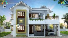 2630 square feet, 4 bedroom, sloping roof mix home plan by R it designers, Kannur, Kerala. Bungalow Haus Design, Duplex House Design, House Front Design, Modern House Design, Style At Home, Home Design, Design Ideas, Kerala House Design, Kerala Houses