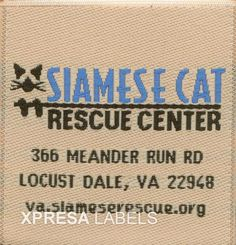 Woven Clothing Labels- Pets Dog Wear- Siamese Cat