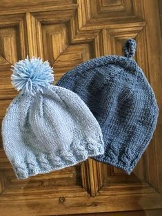 Beanie Knitting Patterns Free, Baby Hats Knitting, Knitting For Kids, Knitting For Beginners, Knitting Designs, Knit Patterns, Free Knitting, Knitted Booties, Knitted Hats