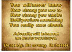 Adversity...is it good or bad?