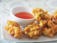 Thai Corn Fritters ... Oh my goodness! These look and sound heavenly. I absolutely must try them!