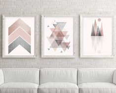 Set of 3, Printable Art, Downloadable Prints, Geometric, Scandinavian, Pink, Grey, Bedroom Decor, Art, Poster, Wall Art, Print, Trending Art THESE ARE INSTANT DOWNLOADS – Your files will be available instantly after purchase. Please note that this is a digital download ONLY, no