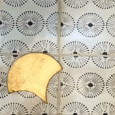 Rue des Rosiers 16 in charcoal on off white. Tribal Patterns, Tile Patterns, Vintage Patterns, Textures Patterns, Print Patterns, Ceramic Tile Backsplash, Ceramic Tile Bathrooms, Tuile, House Tiles