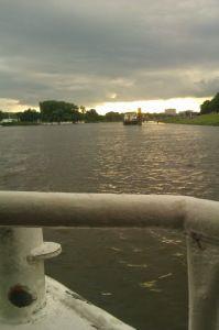 Auf der Sielwallfähre in Bremen