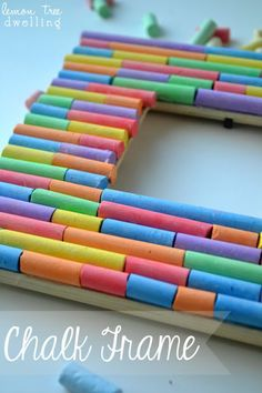 Fun picture frame from Lemon Tree Dwelling - made with chalk!