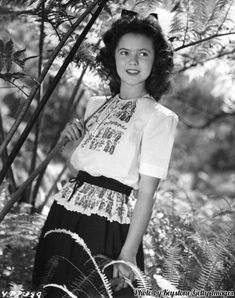 A sixteen year old Shirley Temple, 1944.