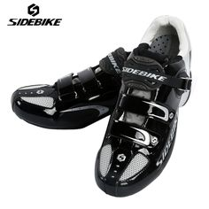 SIDEBIKE Road Cycling Shoes Black Zapatillas Ciclismo Rubber PU Breathable Mens Road Bikes Shoes Auto-lock Bicycle Riding Shoes