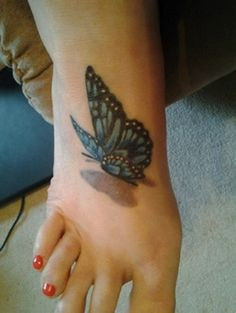 3D butterfly tattoo 42 - 65 3D butterfly tattoos   <3