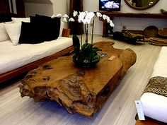 salvaged teak wood coffee table