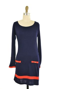 Navy Blue Knit Sweater Dress Size S | ClosetDash #dress #style #fashion