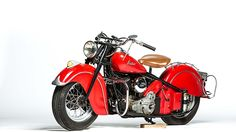 1947 Indian Chief presented as lot F29. #Mecum #EJCole #Motorcycles