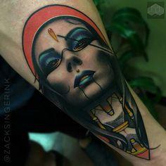 Portrait tattoo by Zack Singer