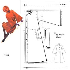 Likes, 48 Comments – Dikiş Kalıpları ve Patronları ( Motif Kimono, Kimono Pattern, Jacket Pattern, Dress Making Patterns, Easy Sewing Patterns, Coat Patterns, Fashion Sewing, Diy Fashion, Vintage Mode