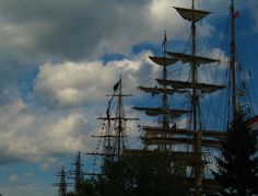 Tall ships - in the harbor at Duluth, Minnesota.