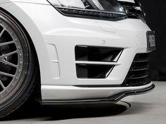 Rieger Front Lip Spoiler for VW, Golf R, MKVII (Gloss Black)