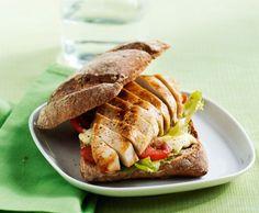 Warmes Pouletsandwich