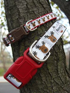 Rudolph Christmas dog collar by NannerZeus on Etsy, $15.00