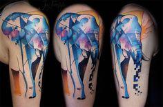 cubism elephant | Biyomekanik Dövme Yapımı