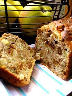 Gâteau pommes figues et noix sans matière grasse, sans lactose