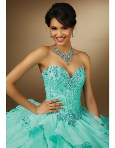 8d9b71ccee Quinceanera dresses by Vizcaya 88091 Multi-Colored Jewel Beaded ...