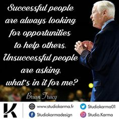 @thebriantracy 👈 #successquotes #motivationalquotes #inspiration #inspirarionalquotes Karma, Brian Tracy, Successful People, Helping Others, Logos, Inspirational Quotes, Motivation, Logo Creation, Inspiring Sayings