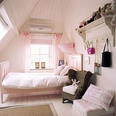 Child's pink loft bedroom | Children's room ideas | Children's room | PHOTO GALLERY | Homes & Gardens | Housetohome.co.uk