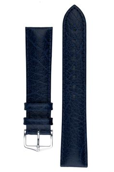 Hirsch HIGHLAND Calf Leather Watch Strap in BLUE